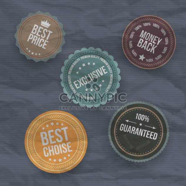 vintage badges and labels background - Free vector #133344