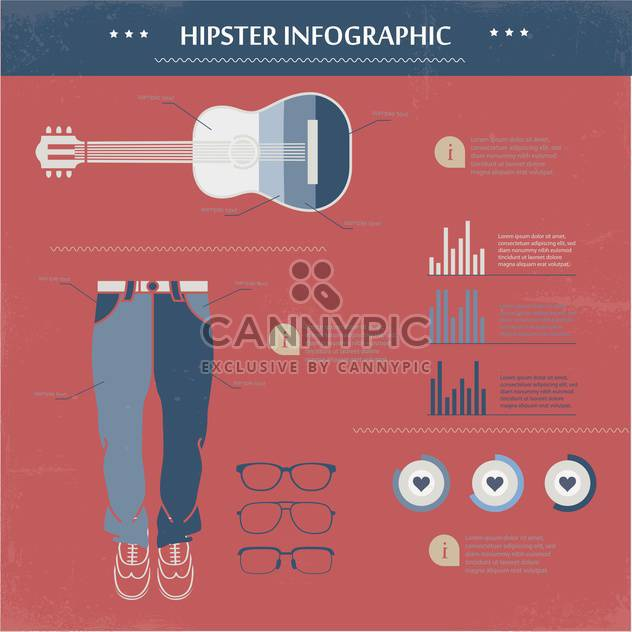 hipster vector infographic set - Free vector #133394