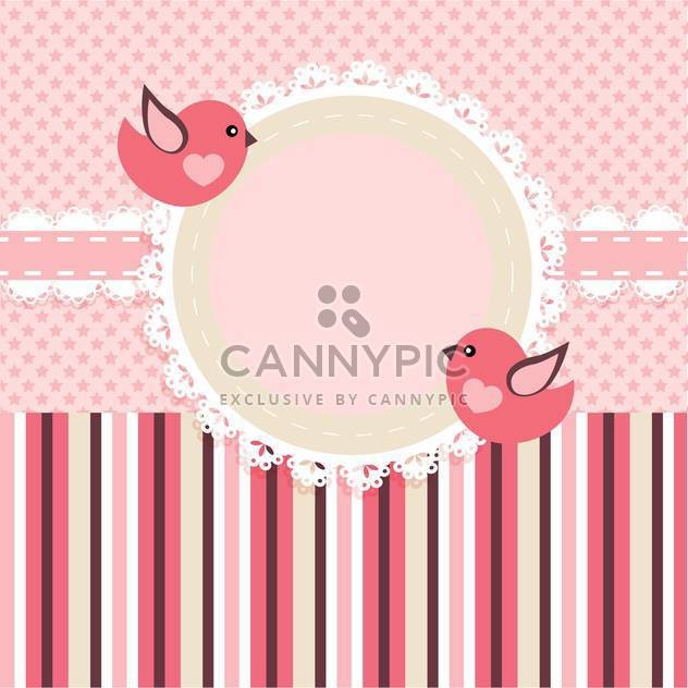 vector frame background with birds - Free vector #133454