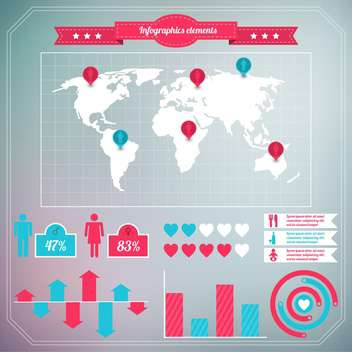 business population infographics set background - vector #133524 gratis