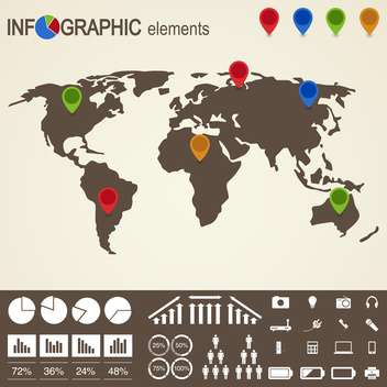 set of business infographic elements - Free vector #133534