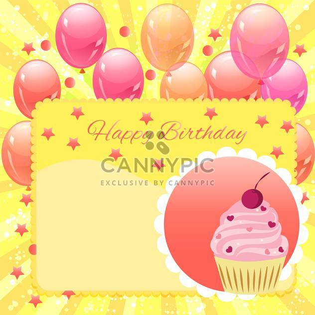 happy birthday vector background - Free vector #133624