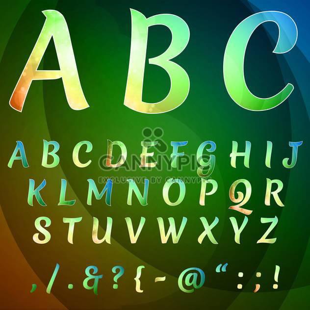 Bildung-Alphabet festlegen Vektor Hintergrund - Kostenloses vector #133654