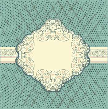 vintage frame vector background - бесплатный vector #133684