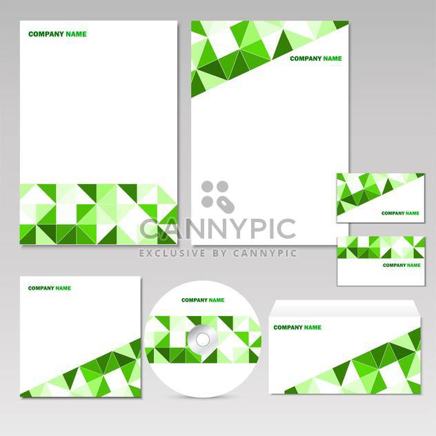 set of corporate elements background - Free vector #133724