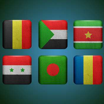 vector set of countries flags - vector gratuit #133734