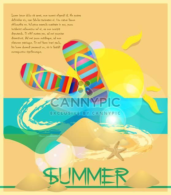 Sommer Urlaub Vektor Hintergrund - Free vector #133744