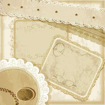 vector set of vintage frames - vector gratuit #133764