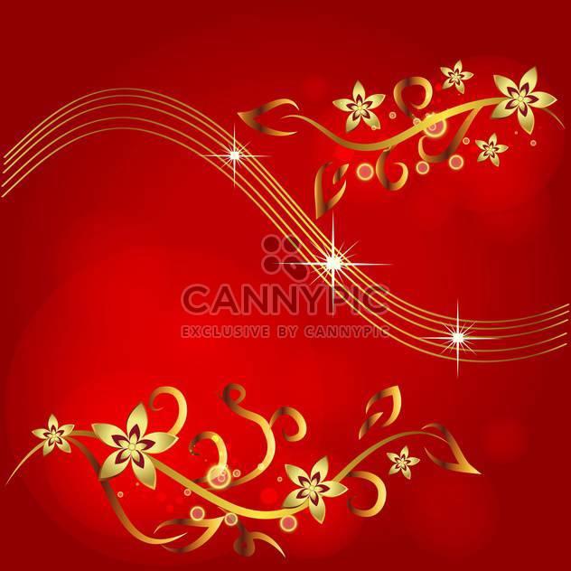 vintage red floral background - Free vector #133784