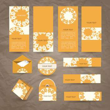 selected corporate templates background - vector gratuit #133954