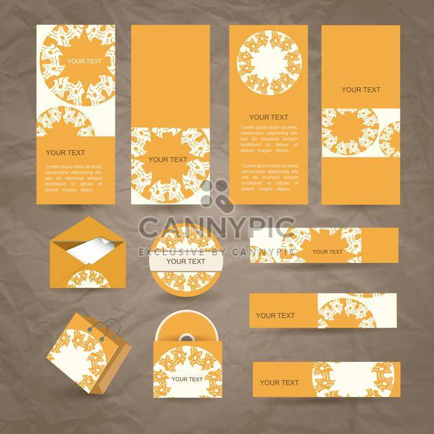 selected corporate templates background - Free vector #133954