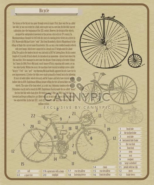 Vektor-Hintergrund mit Fahrrädern illustration - Kostenloses vector #134014