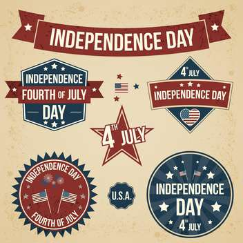 vector independence day badges - vector gratuit #134034