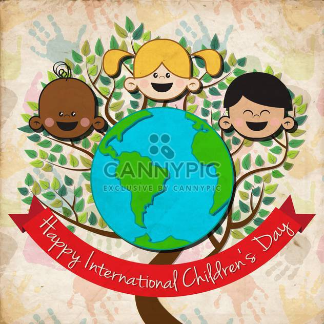 international children day background - Free vector #134064