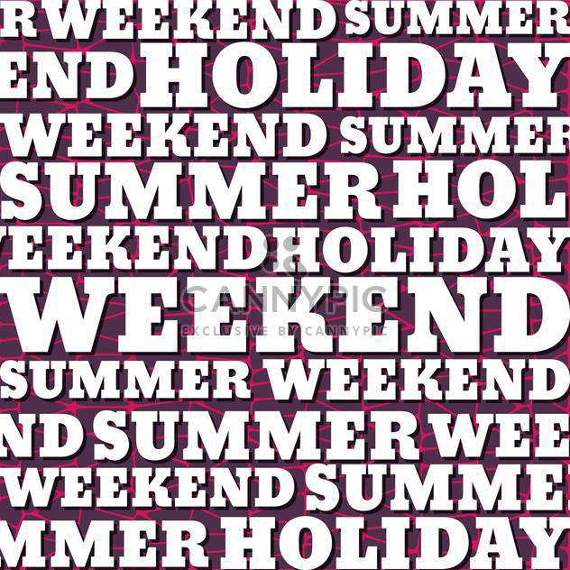 weekend poster alphabetic background - Free vector #134114