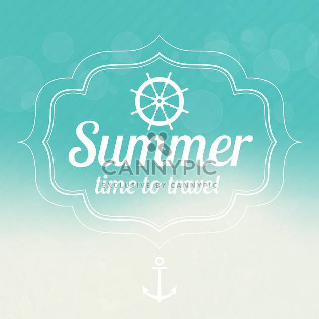 summer sale design emblems set - Free vector #134124