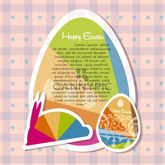 template for happy easter card with eggs - Free vector #134134