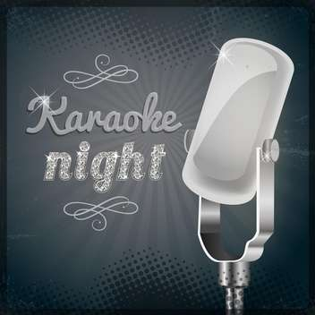 karaoke party night poster background - vector gratuit #134184