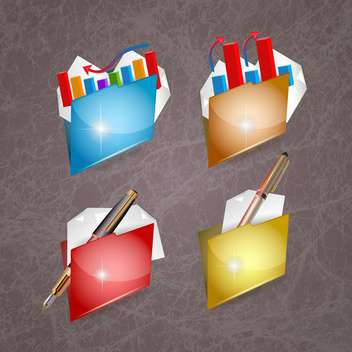 business folder set background - vector gratuit #134204