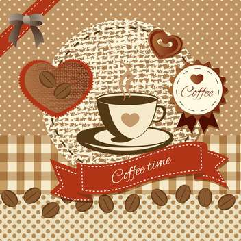vintage background with coffee elements - vector gratuit(e) #134244