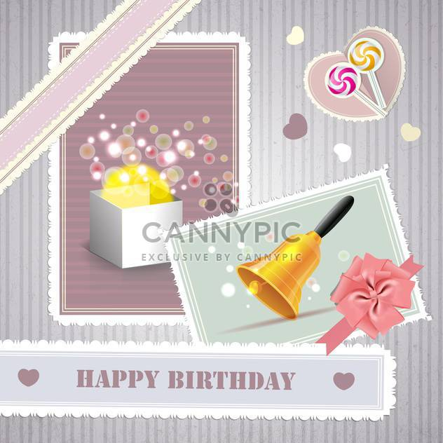 happy birthday card background - Free vector #134254