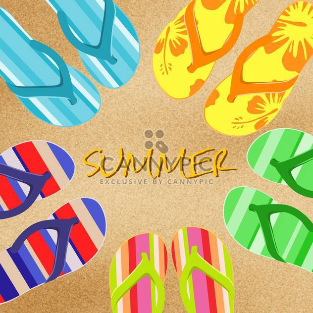 summer background with flip flops - Free vector #134274