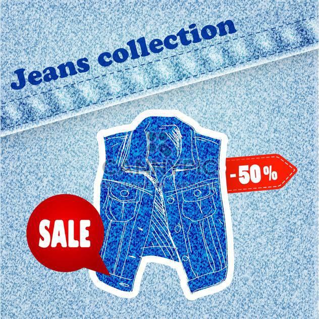 Jeans Verkauf banner - Free vector #134294