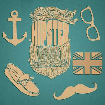 hipster graphic icon set - vector gratuit #134314