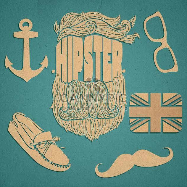 Hipster-Grafik Icon-set - Kostenloses vector #134314