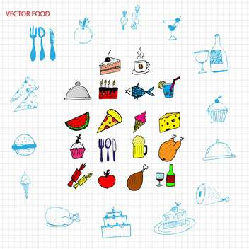 vector food signs set - vector gratuit #134334