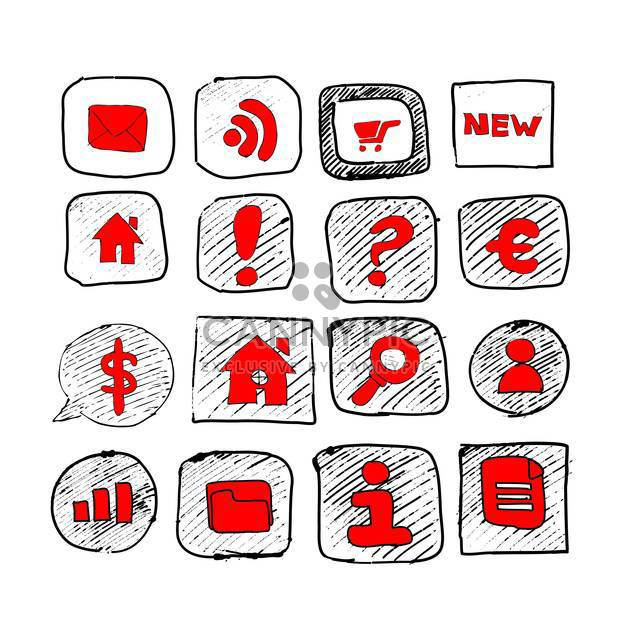 web icons sketch set - Free vector #134344
