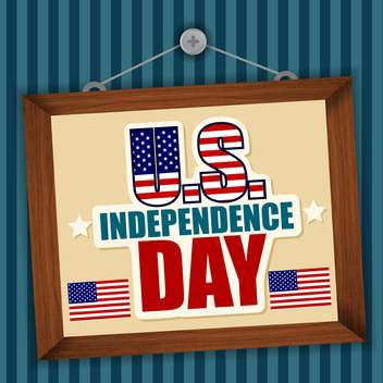 usa independence day labels - vector #134354 gratis