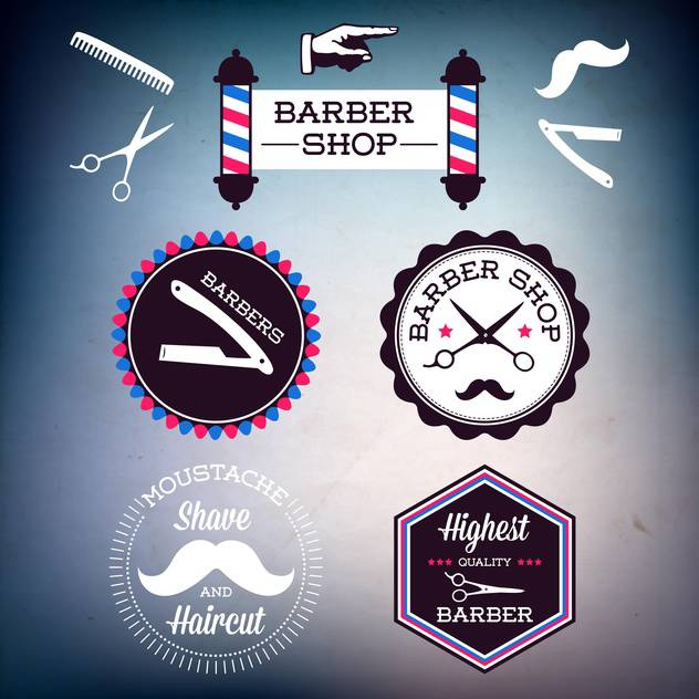 classic barber shop signs - vector gratuit #134394