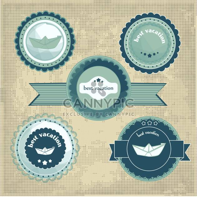 best vacation holiday labels signs - Free vector #134404