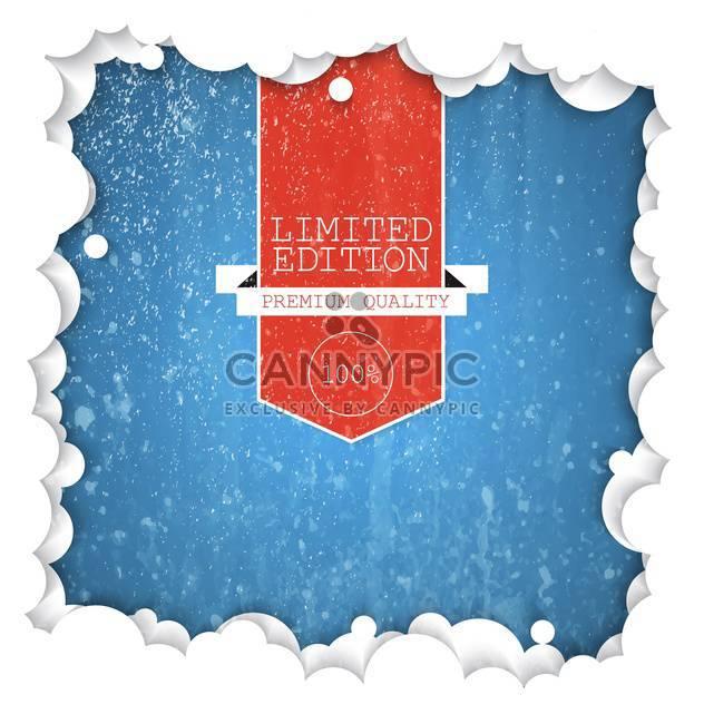 Etikett-Limited Edition-Hintergrund - Kostenloses vector #134444