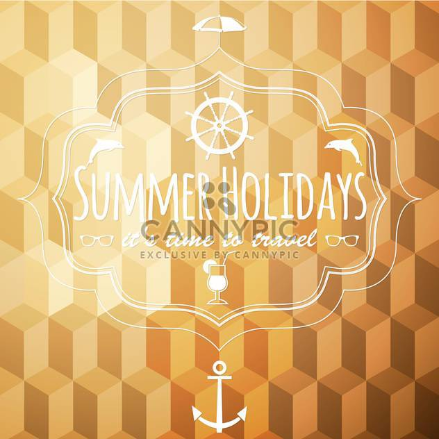 summer vacation holidays background - Free vector #134464