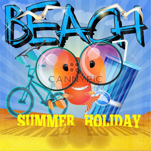 summer holiday vacation background - Free vector #134474