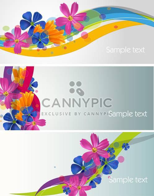 Sommer-floral-Karten-Hintergrund festlegen - Kostenloses vector #134544