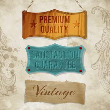 vintage labels for commercial use - vector gratuit #134564