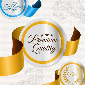 set of labels for best quality items - vector gratuit #134574