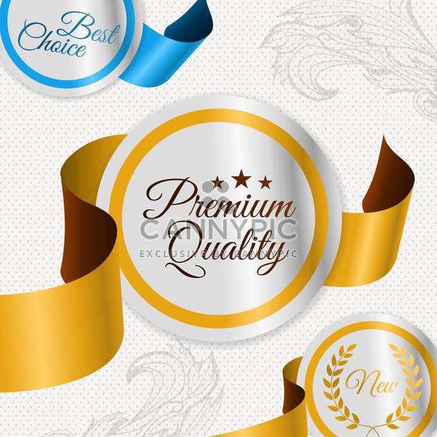 Etiketten für beste Qualität-Elemente - Kostenloses vector #134574