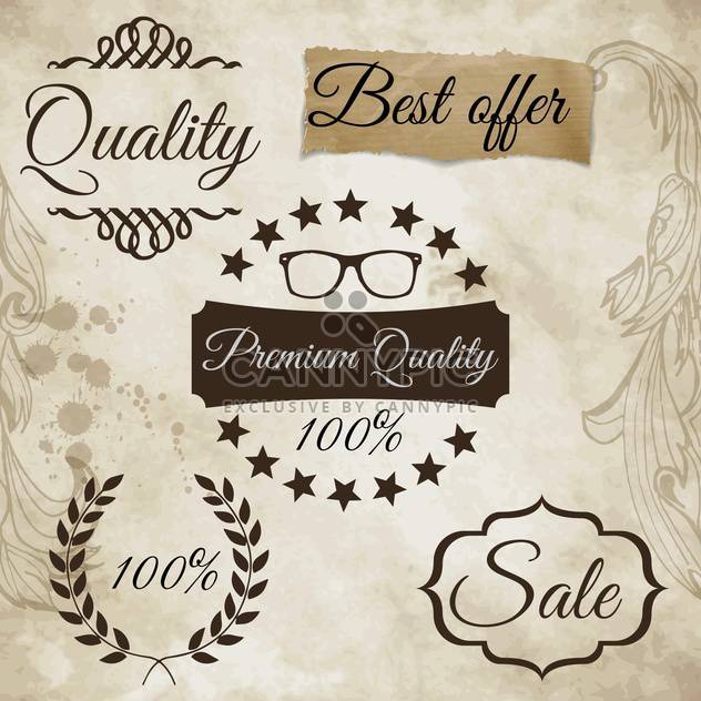 set of labels for best quality items - Free vector #134594