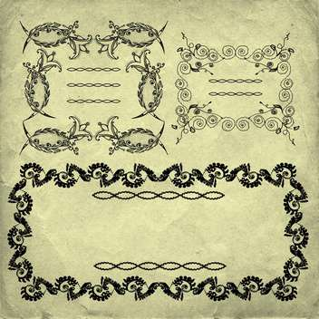 retro frame vector decoration set - Free vector #134624