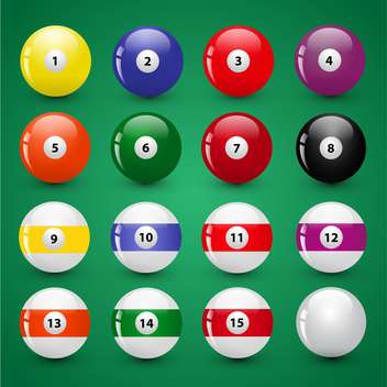 billiard game balls vector illustration - vector #134784 gratis