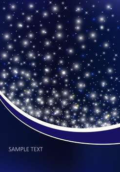 vector background with night sky - Free vector #134804