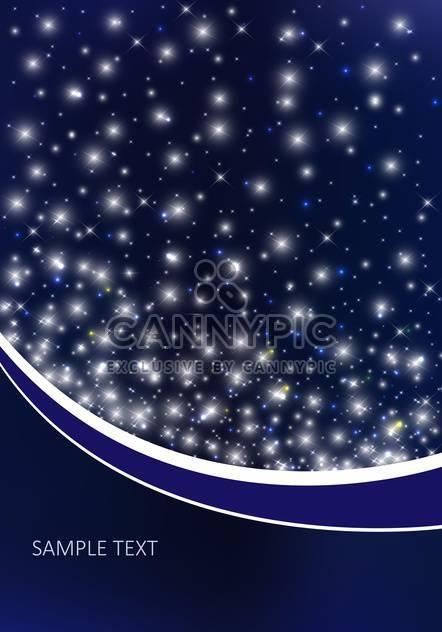 Vektor-Hintergrund mit Nachthimmel - Kostenloses vector #134804