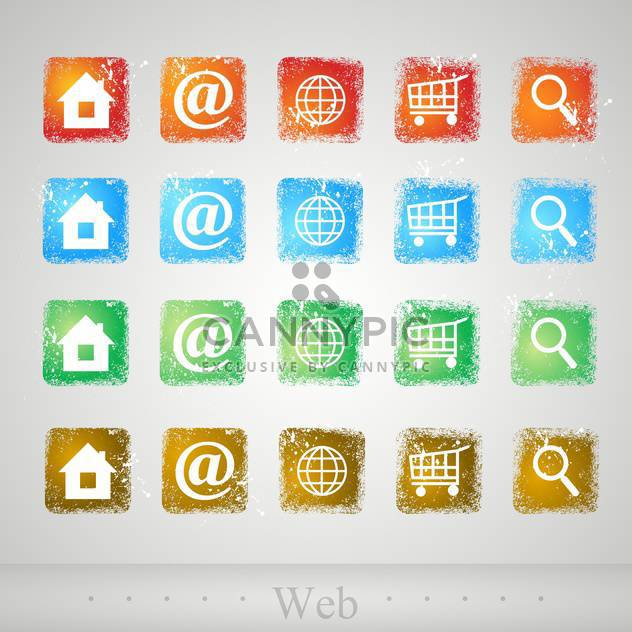 vector set of web buttons - Free vector #134944