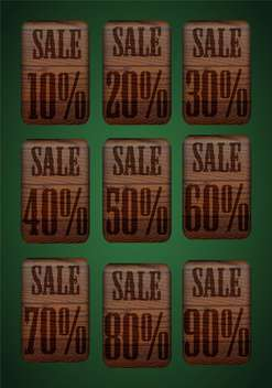 vector set of sale retro price tags - vector gratuit #134954