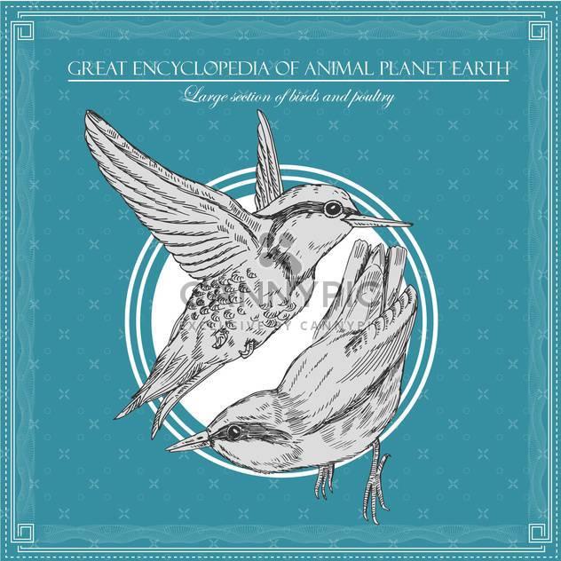 Vögel-Illustration im großen Enzyklopädie des Tieres - Kostenloses vector #135024