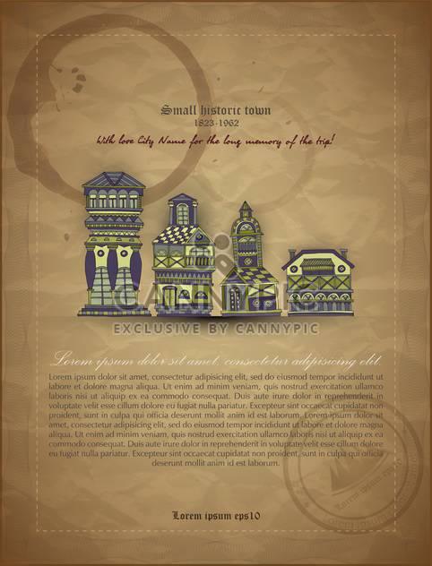 retro vector architecture banner document - Free vector #135134